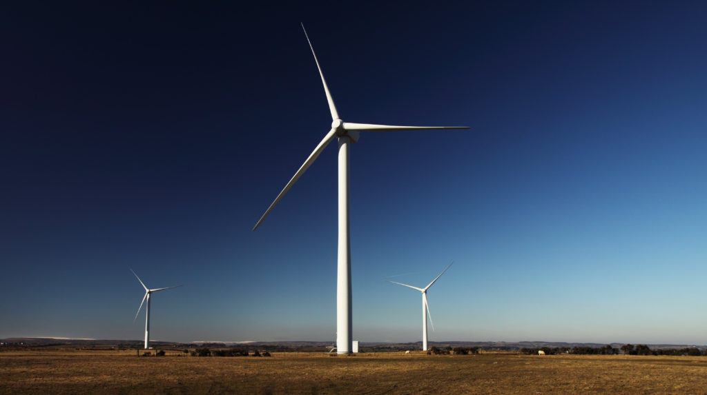 Windmills showing sustainable innovation