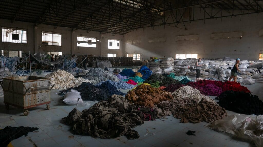 Fashion industry waste