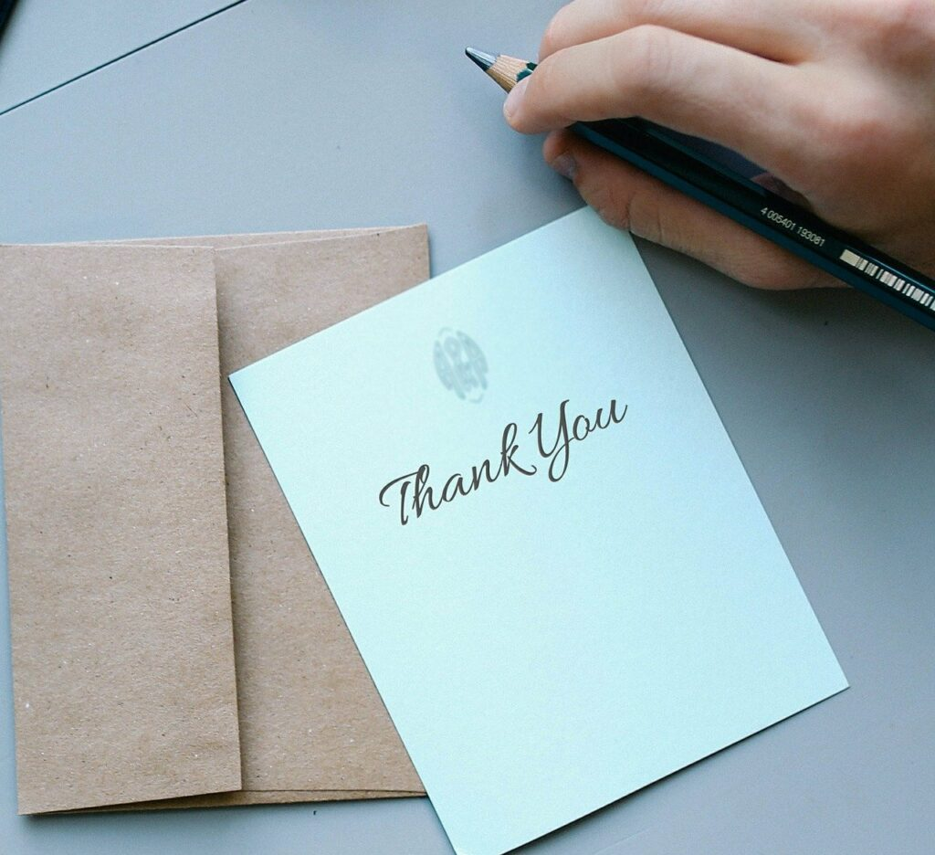 Thank you note to celebrate success and acknowledge employee contributions.